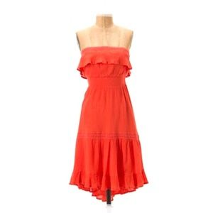 HD IN PARIS Coral Sunny Repose Strapless Dress